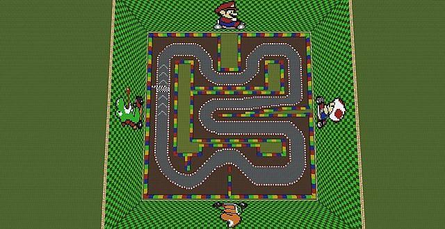 MineKart Map SNES Mario Circuit 3 Remake Minecraft Project
