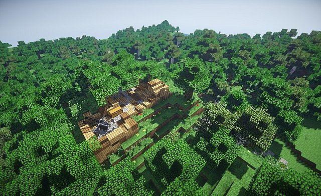 WW2 World War II German Base Map Minecraft Project