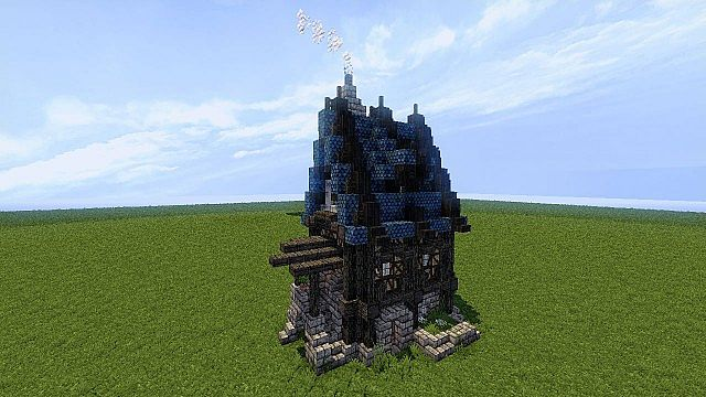 Schematic Small Medieval House Minecraft Project