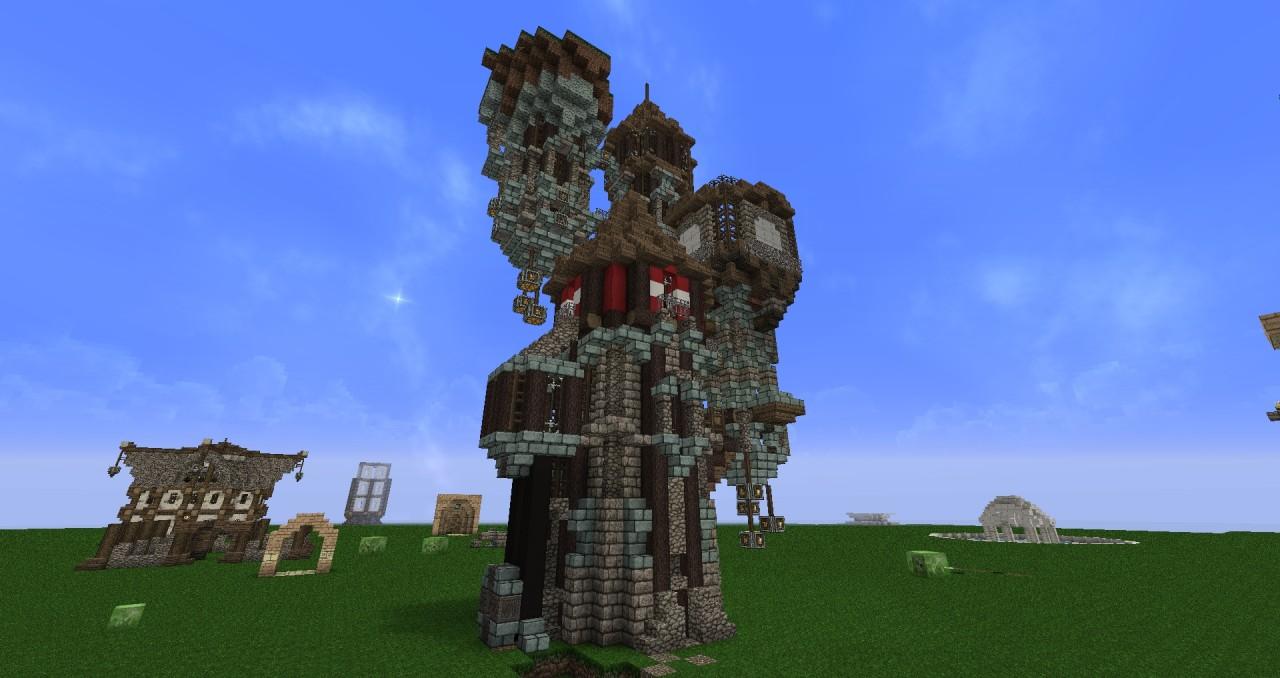 Steampunk Wizard Tower Minecraft Project
