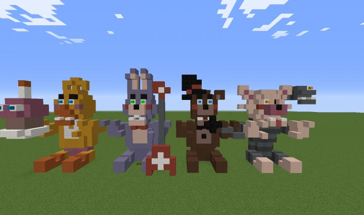 Freddys Minecraft Freddy Nights Five Five Skins Nights 2