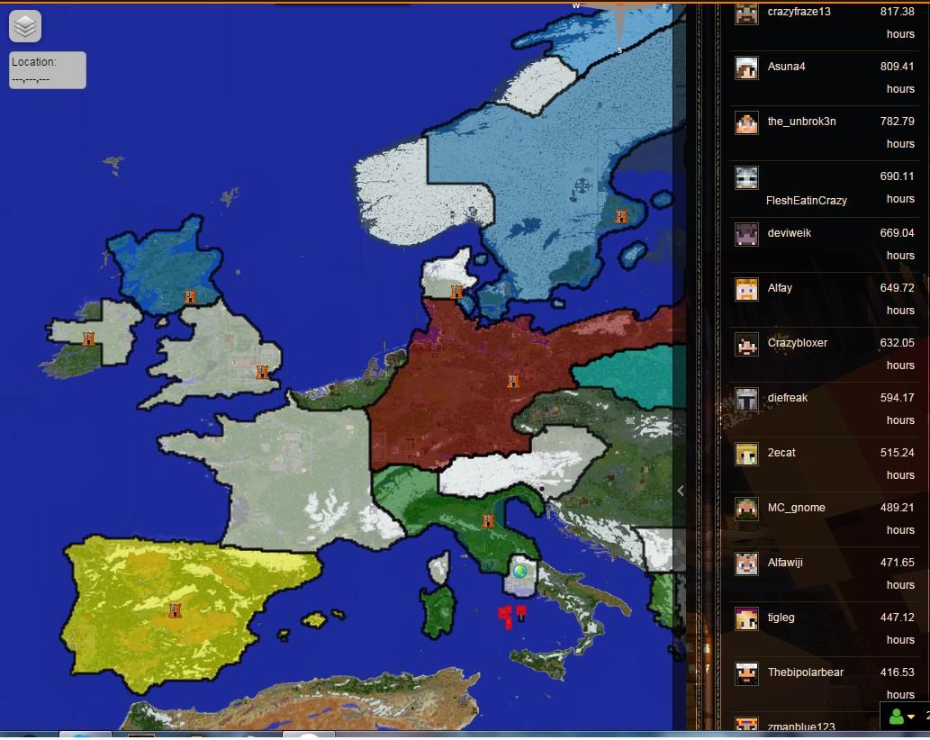 Minecraft Civilization Map