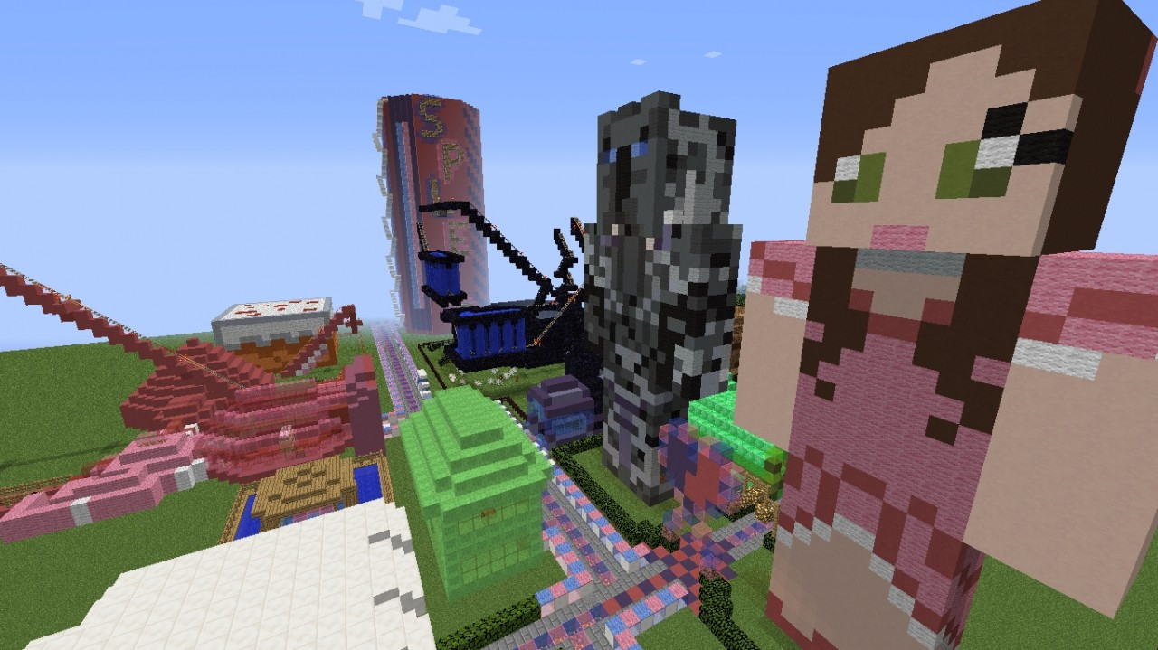 Fanmade Themepark For Popularmmos And Supergirlygamer Minecraft Project