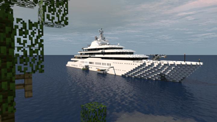 Eclipse Megayacht Full Interior 11 Scale Minecraft