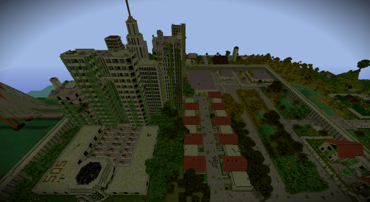 Map Minecraft Zombie Apocalypse City