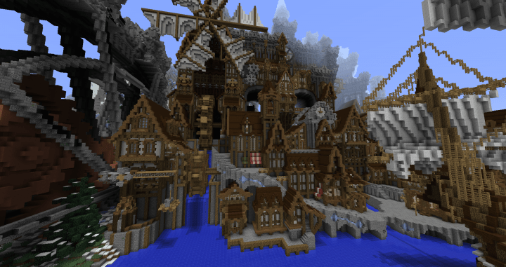 Conderial Steampunk City Minecraft Project