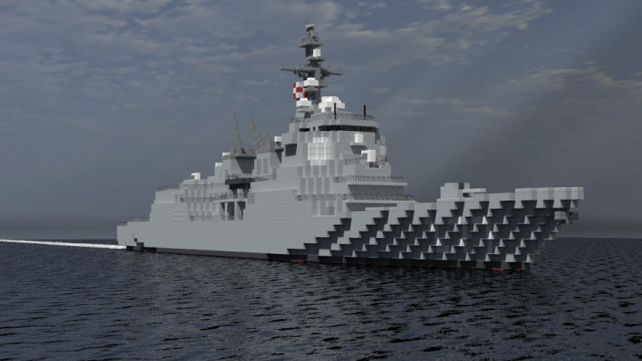 JMSDF Atago Class Destroyer Minecraft Project