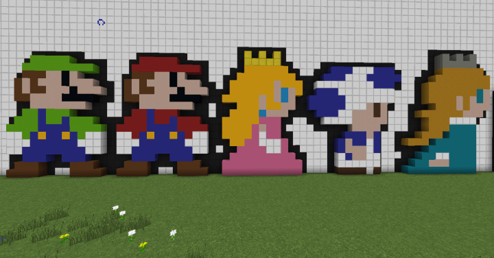 Super Mario Characters Set Of 5 Minecraft Map
