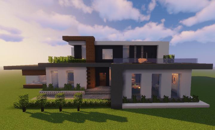 "Modern House | ""Azure"" (1.14+) Minecraft Map"