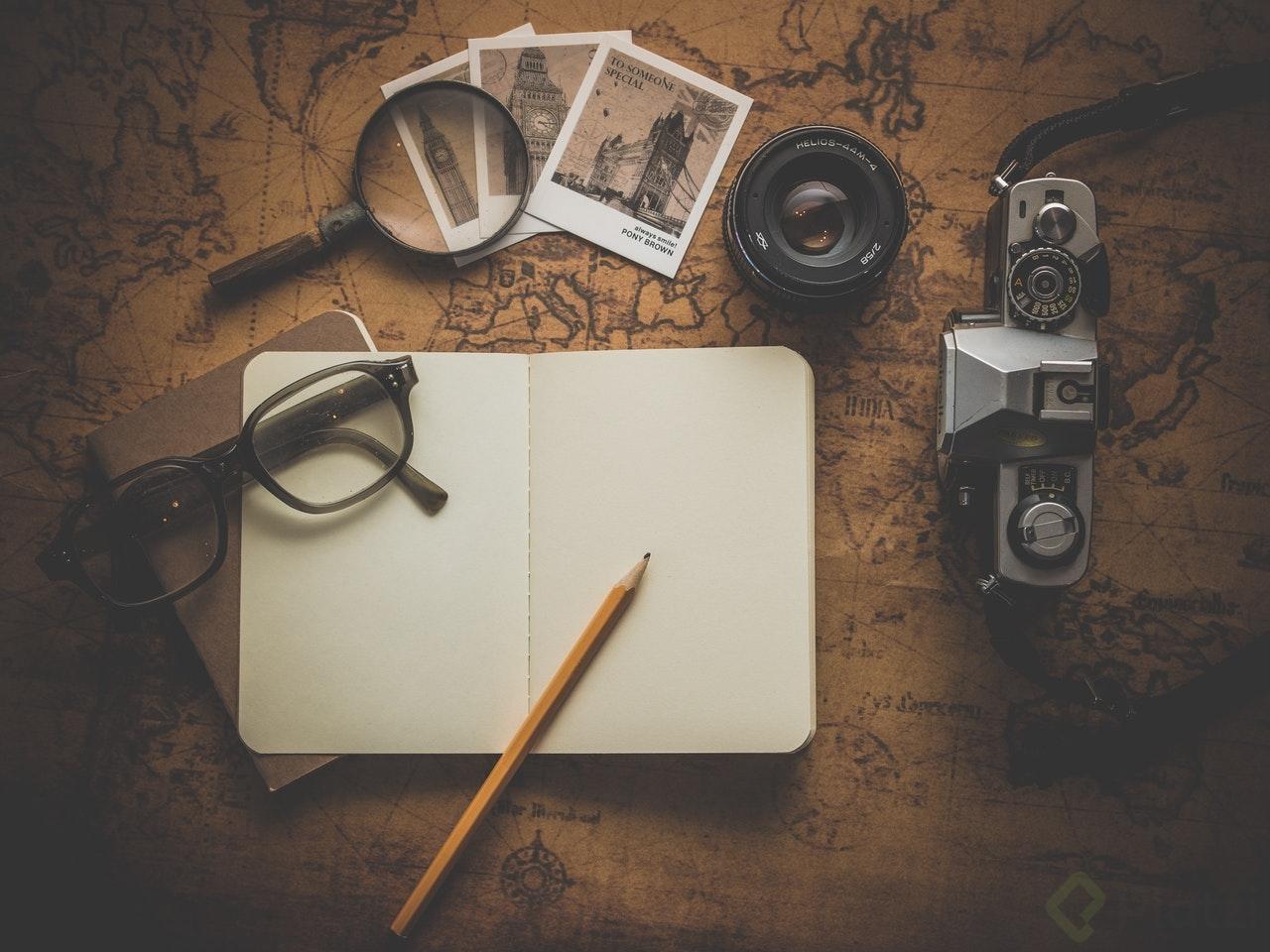 Cuaderno para escribir notas