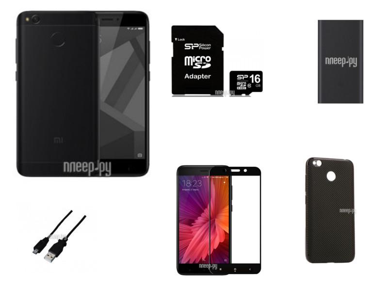 Сотовый телефон Xiaomi Redmi 4X 3Gb RAM 32Gb Black Мега Выгодный набор + подарок серт. 200Р!!!