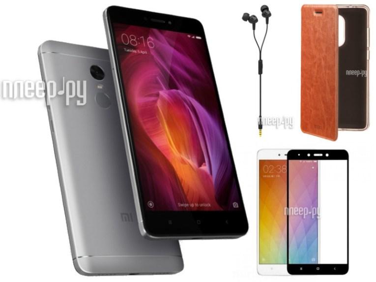 Сотовый телефон Xiaomi Redmi Note 4 4Gb RAM 64Gb Grey Выгодный набор + подарок серт. 200Р!!!