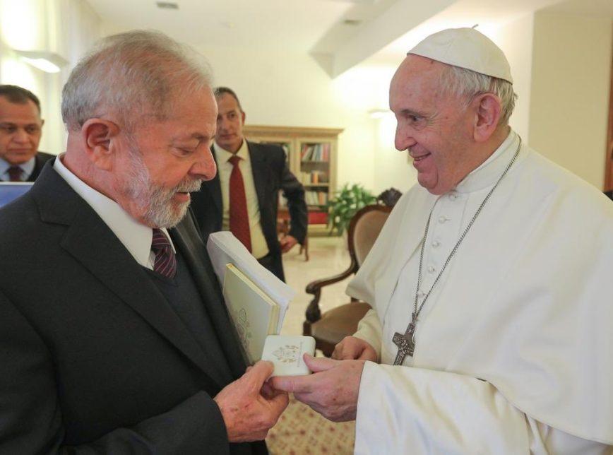 Lula divulga vídeo de encontro com o papa Francisco; assista | Poder360