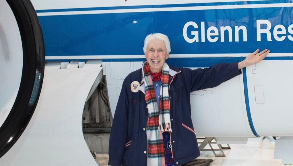 Wally Funk besøkte Glenn Research Center på i Ohio 2019. NASA