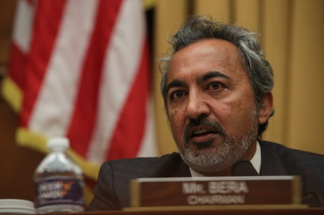 Rep. Ami Bera (D-Calif.) speaks during a joint hearing.