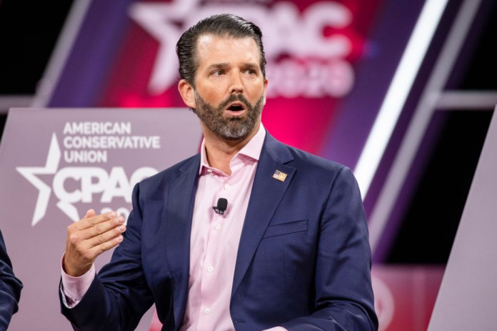 Donald Trump Jr. speaks at the annual CPAC event