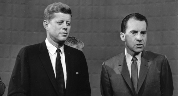 Kennedy and Nixon hold first televised debate, Sept. 26 ...