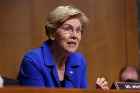 Sen. Elizabeth Warren speaks.