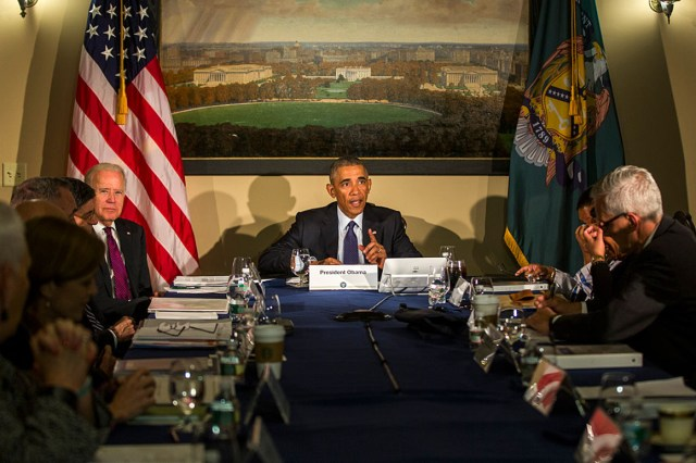 A 2016 National Security Council meeting.