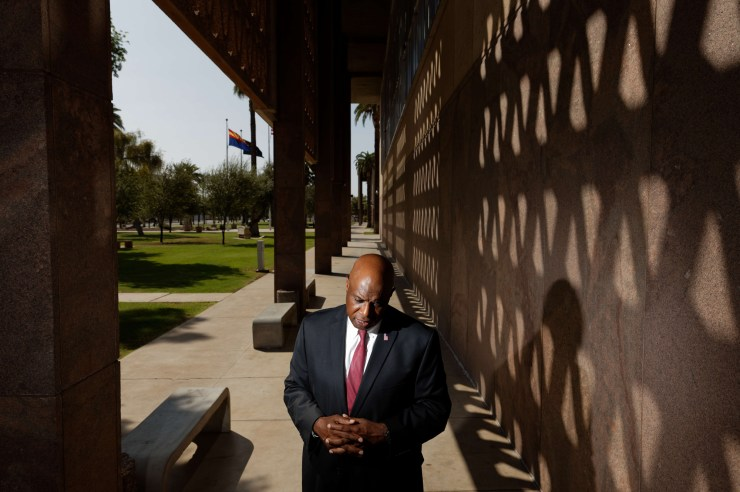 Walt Blackman, the first Black Republican elected to the state legislature, is struggling to hang on to his deeply divided northern Arizona district by pledging to bring the two parties together.