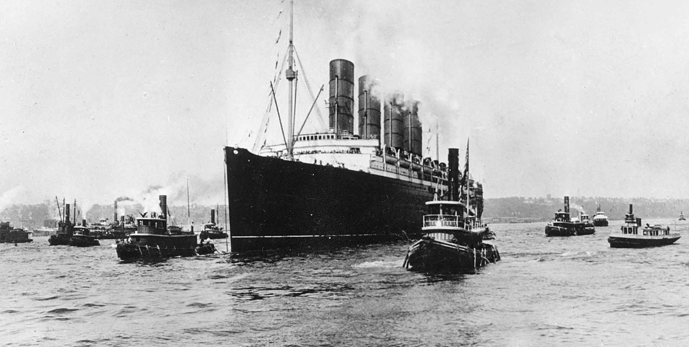 German U Boat Torpedoes The Lusitania May 7