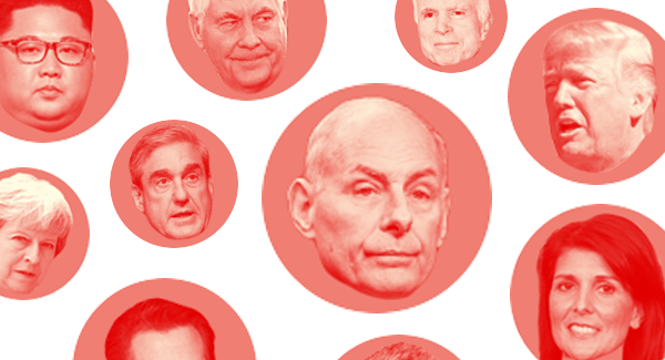 John Kelly and other political figures are pictured.   POLITICO illustration