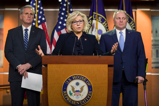 Kevin McCarthy, Liz Cheney and Steve Scalise