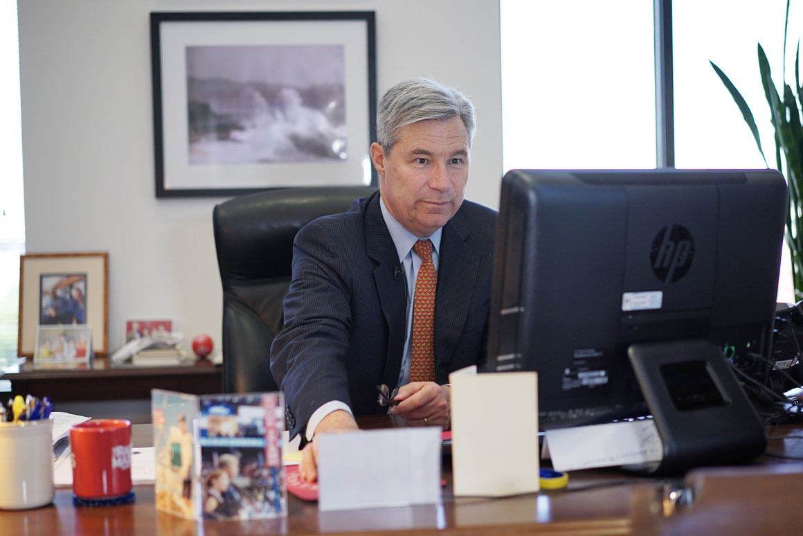 "Asked about his trades, Sen. Sheldon Whitehouse (D-R.I.) said his stockbroker acted without his knowledge. ""I don't decide on, neither am I even informed of, trades that are made in my account."""