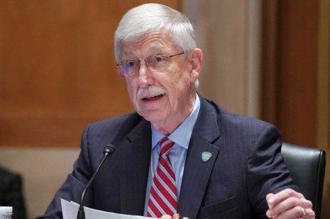 NIH Director Dr. Francis Collins testifies before a Senate Appropriations Subcommittee looking into the budget estimates for National Institute of Health.