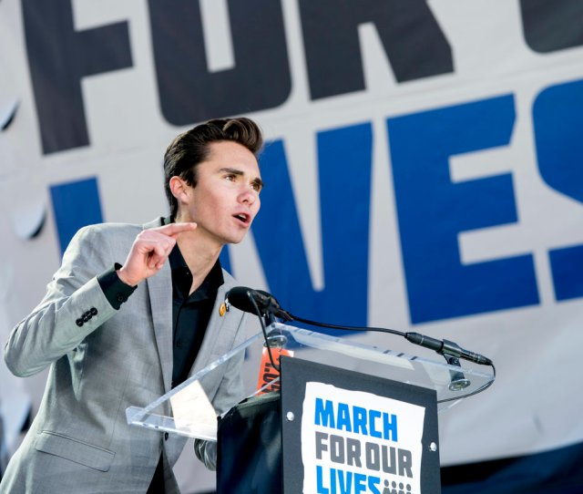 David Hogg A Survivor Of The Mass Shooting At Marjory Stoneman Douglas High School In Parkland Fla Speaks During The March For Our Lives Rally In