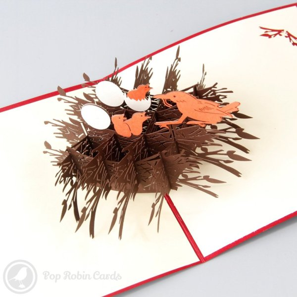 Chicks, Eggs & Birds Nest 3D Pop-Up Easter Card   £6.50 ...