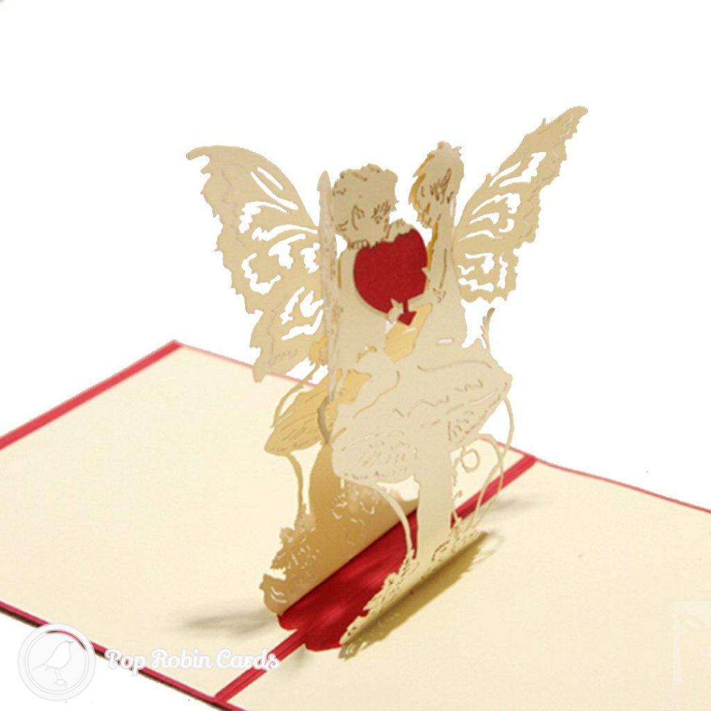 Heart Felt Angels 3D Pop Up Greetings Card 585 3D
