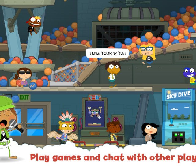 Play Games And Chat With Other Players