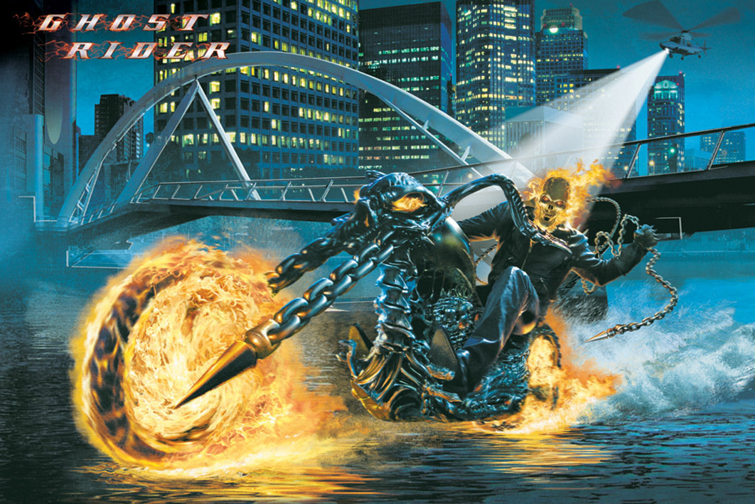 poster ghost rider riding