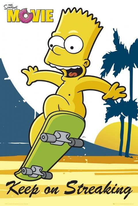 the simpsons movie bart poster plakat 3 1 gratis bei europosters