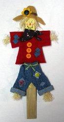 Happy Popsicle Stick Scarecrow
