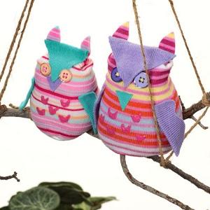 Repurposed Old Sock Owls