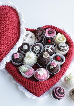Valentine's Chocolates Free Crochet pattern! #redheartyarn #valentinesday