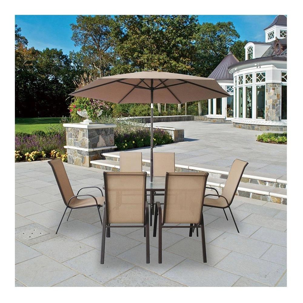 mesa de jardin con sombrilla free