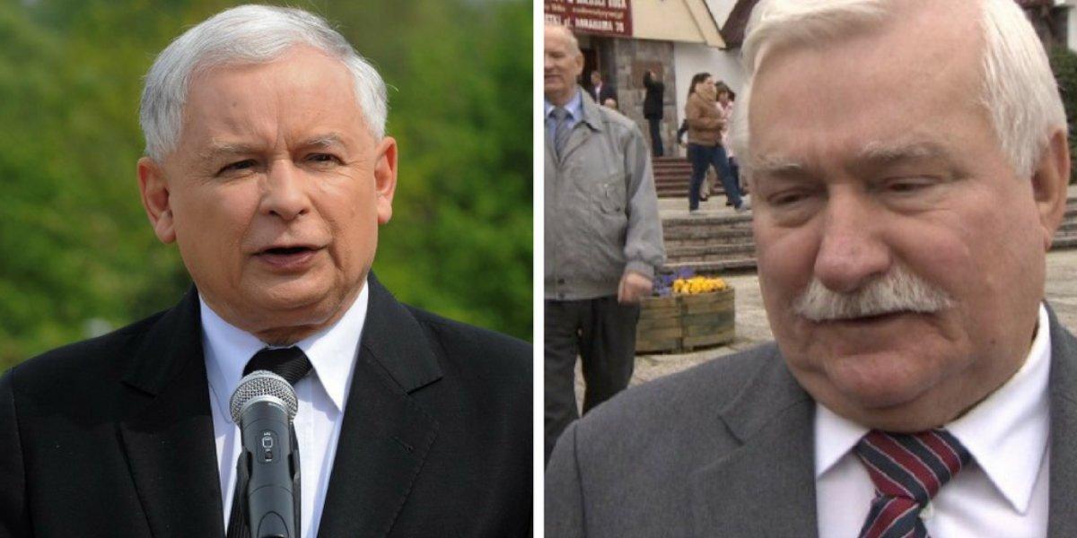 Jarosław Kaczyński i Lech Wałęsa