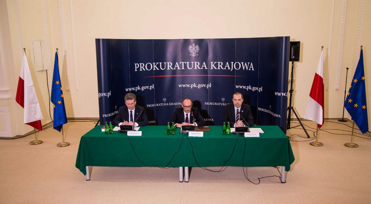 Konferencja prasowa z udziałem zastępcy prokuratora generalnego Marka Pasionka