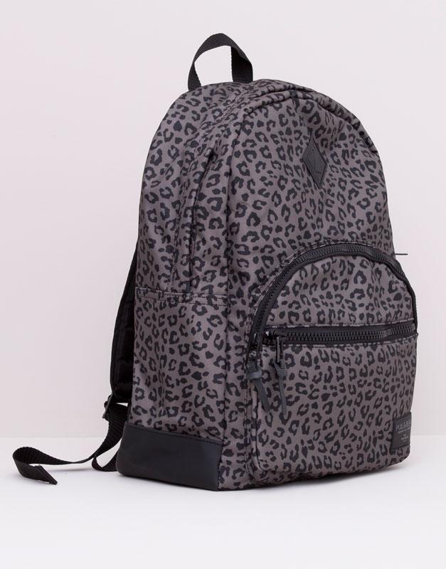 Pull&Bear - hombre - bolsas y carteras - mochila print leopardo - varios - 05820521-V2015