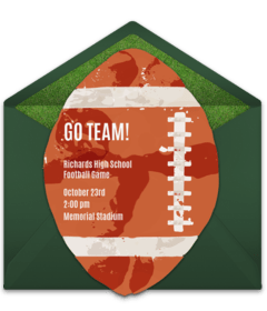 free sports themed online invitations
