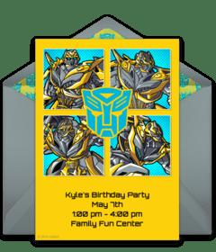 free transformers online invitations