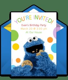 free sesame street online invitations