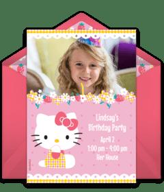 free hello kitty online invitations