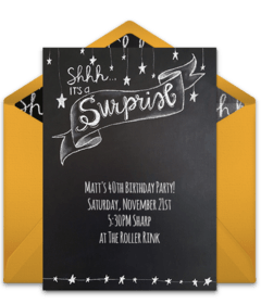 free surprise birthday party online