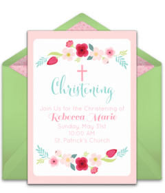free baptism and christening online