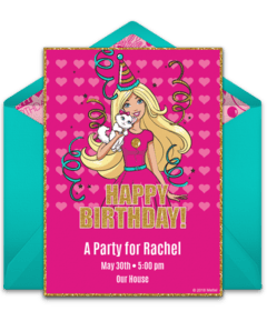 free barbie online invitations punchbowl