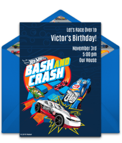 free hot wheels online invitations